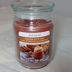 Ashland fall pumpkin spice jar 17oz candle